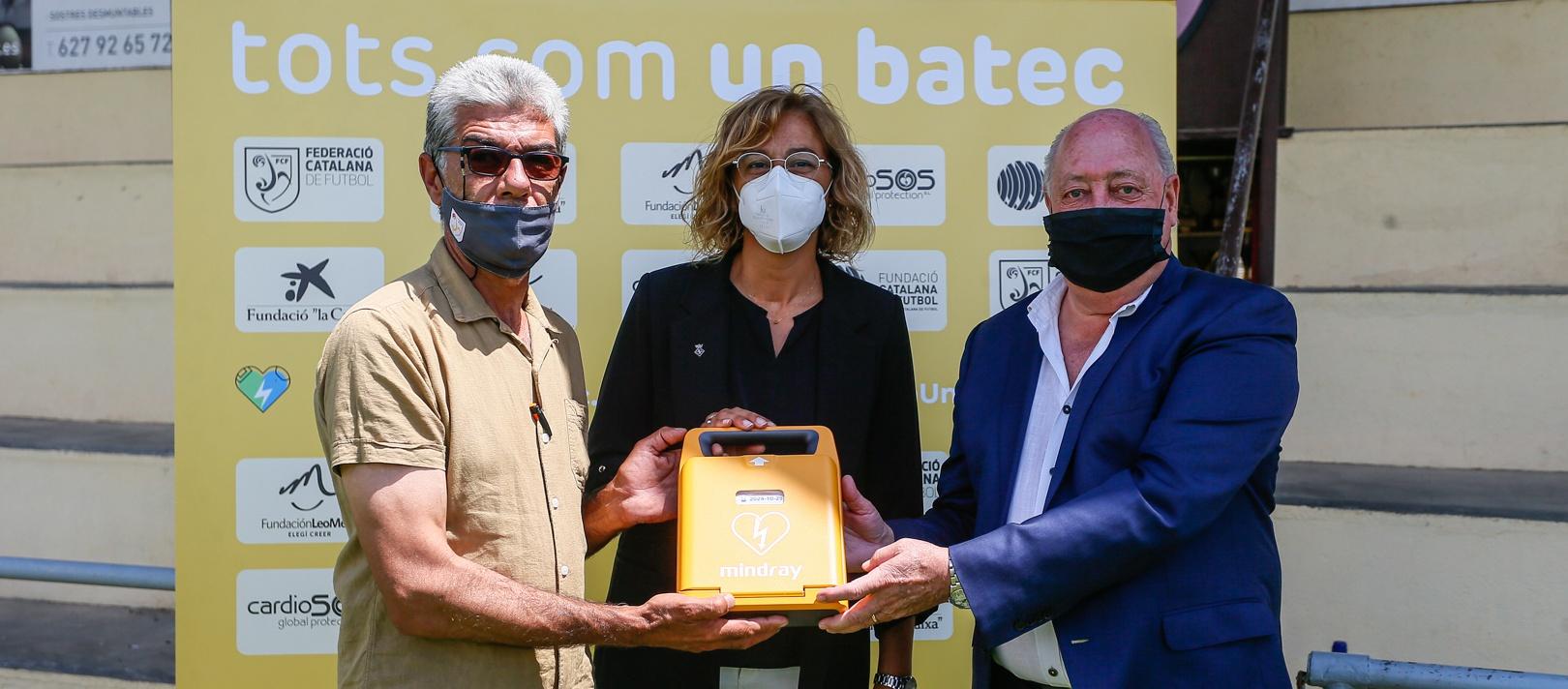 El Vilafant FC obre les entregues de desfibril·ladors a Girona