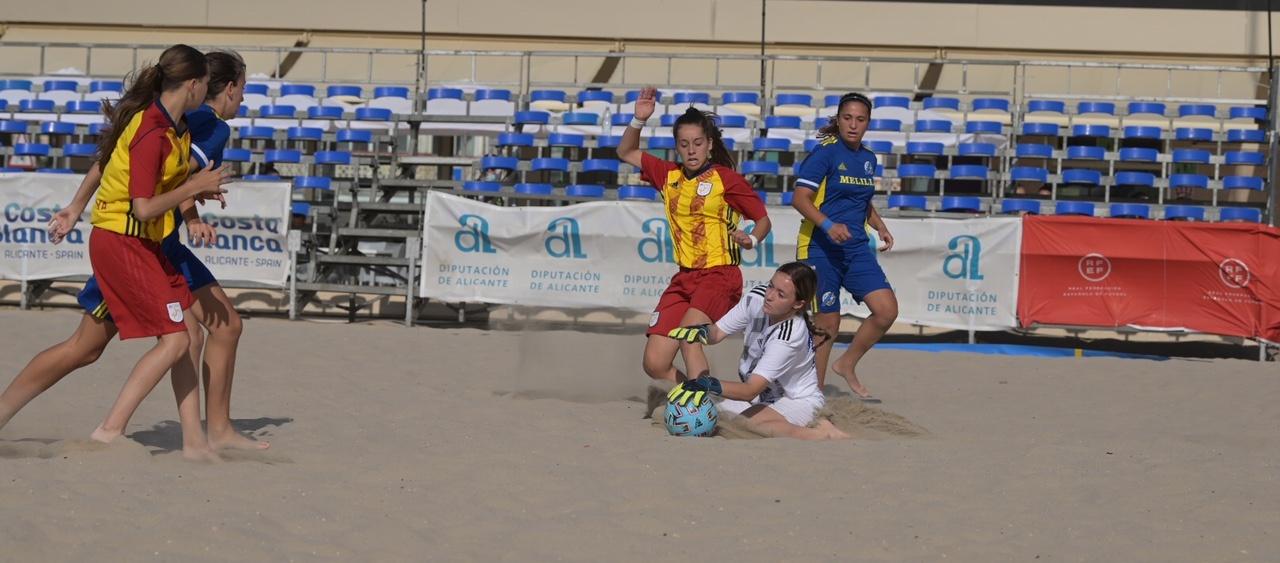 Una Selecció sub 19 desinhibida es desfà de Melilla amb una pluja de gols