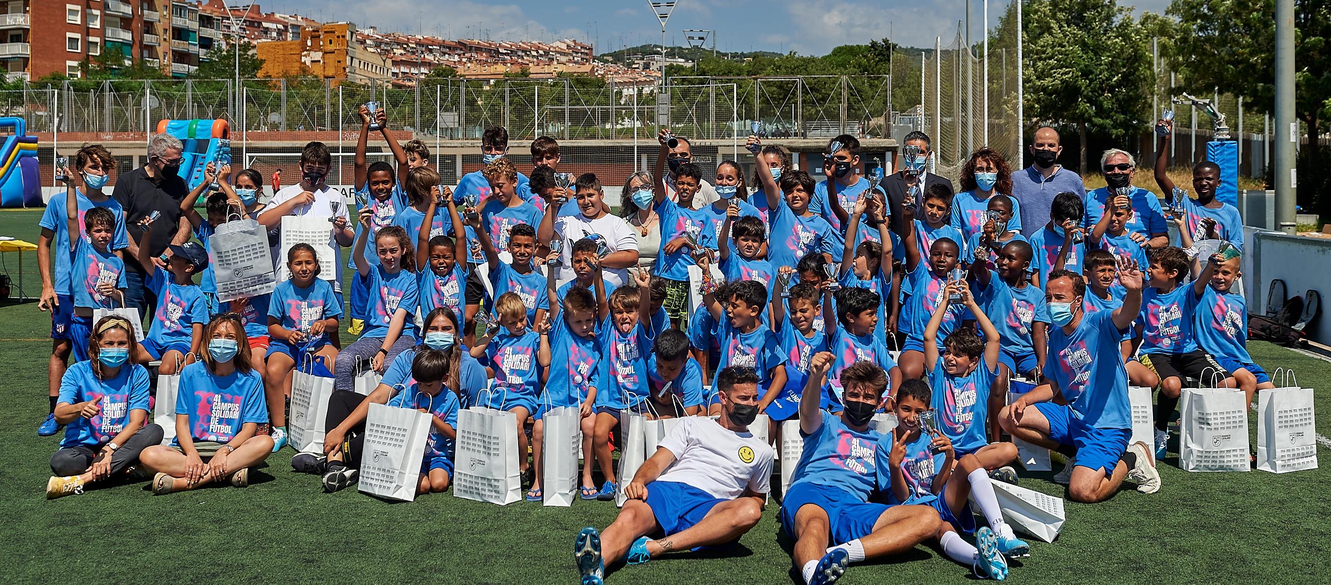 Futbol i diversió en la cloenda del Campus Solidari de la Fundació FCF