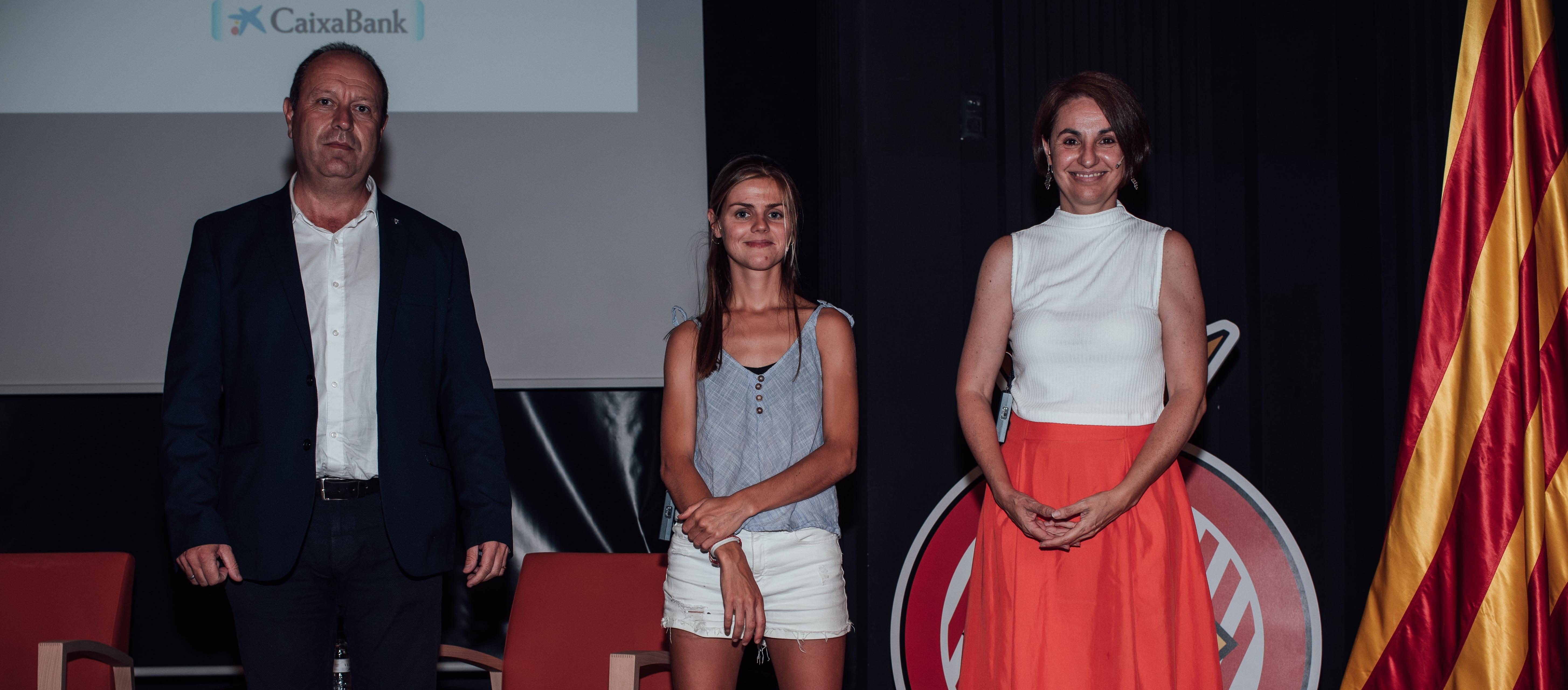 El vicepresident Jordi Bonet participa al col·loqui 'La dona en el futbol', del Girona FC