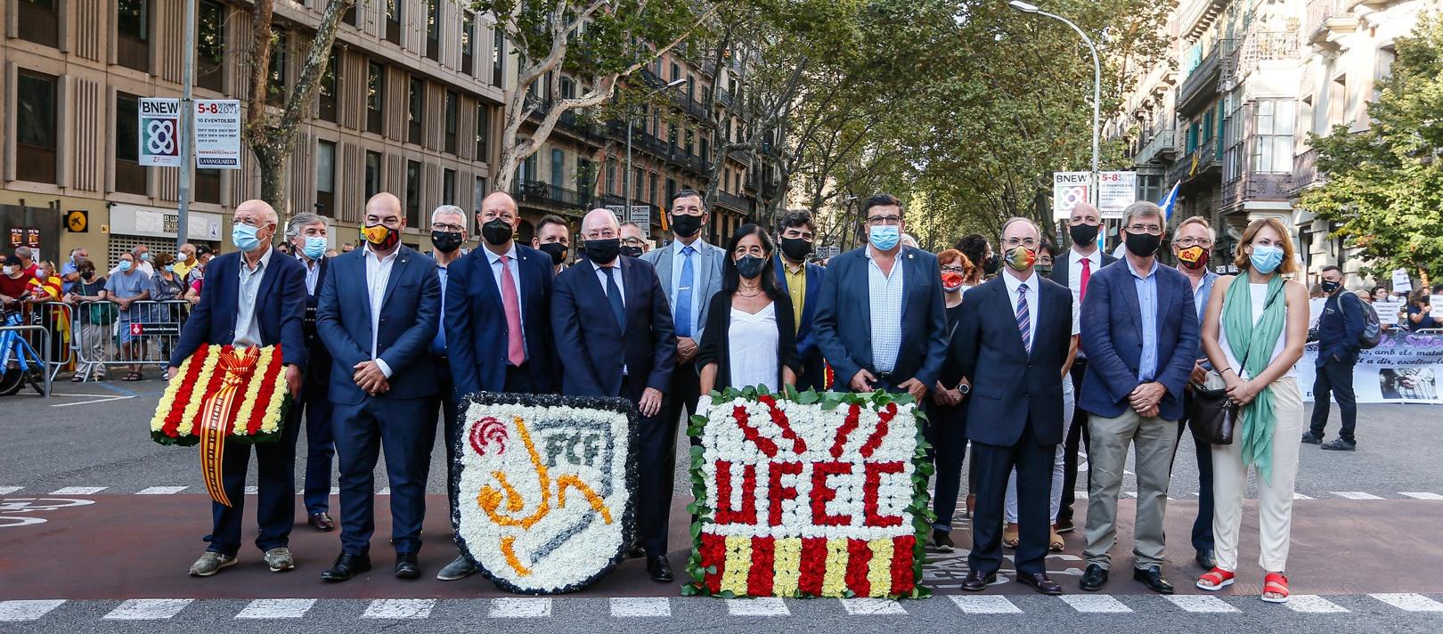 L'FCF, present als actes institucionals de la Diada