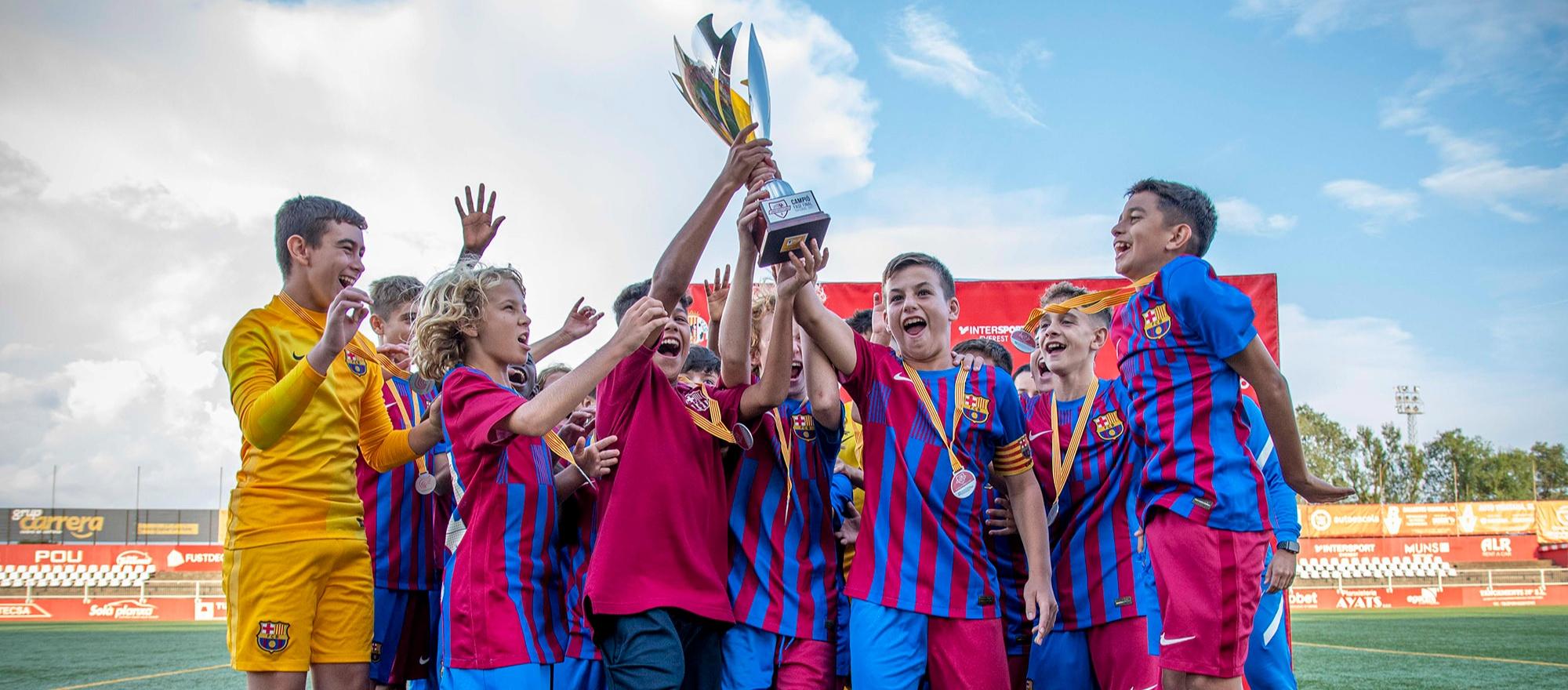 El FC Barcelona, campió del 10è Torneig Hipòlit Planàs