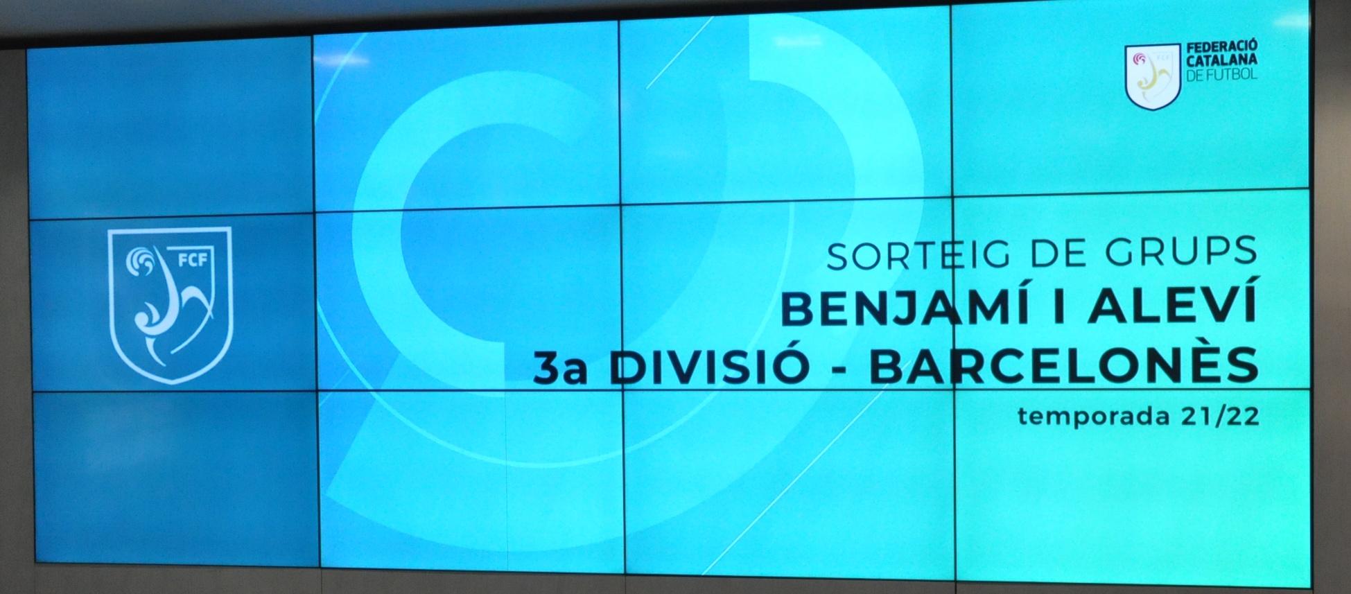 Sortejada la Tercera Divisió Benjamí i Aleví del Barcelonès