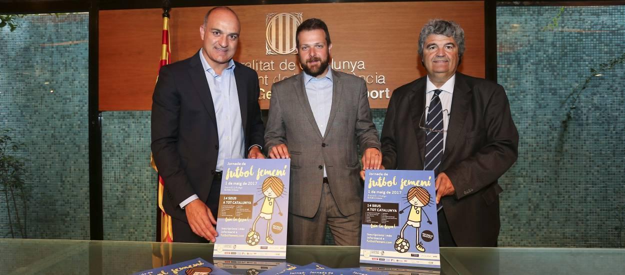 Presentada la Jornada de Futbol Femení a la Secretaria General de l'Esport