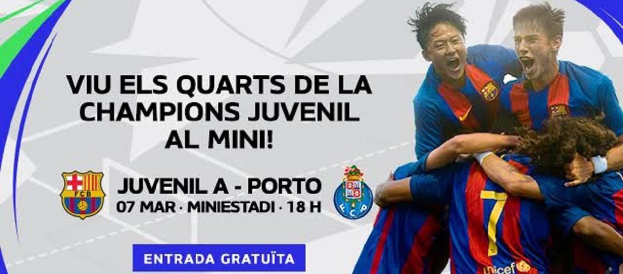 El Juvenil A del Barça s'enfronta al Porto als quarts de final de la Youth League