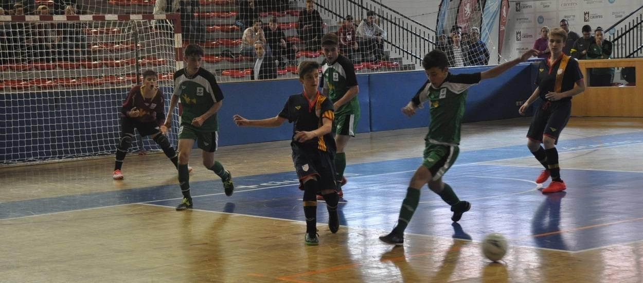 La Selecció Infantil masculina de futbol sala, eliminada del Campionat d'Espanya