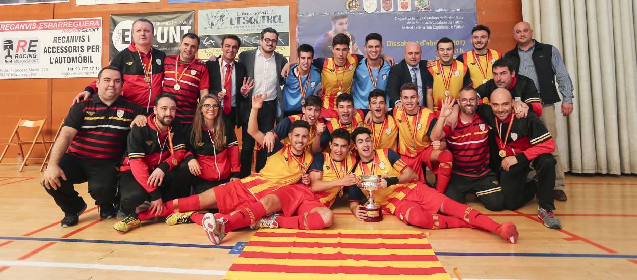 Tetracampions d'Espanya de futbol sala!