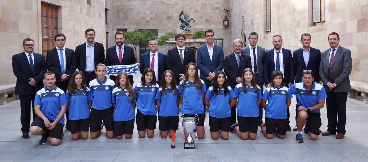 Recepció oficial de l'AEM Lleida a la Generalitat de Catalunya