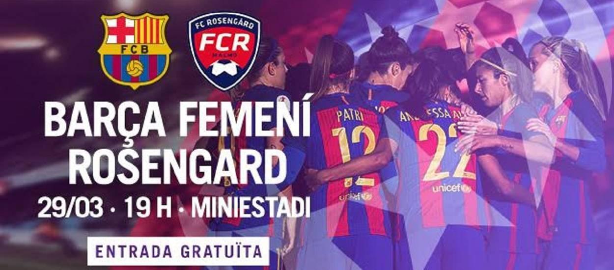 El Barça Femení s'enfronta al FC Rosengard suec als quarts de final de la Champions