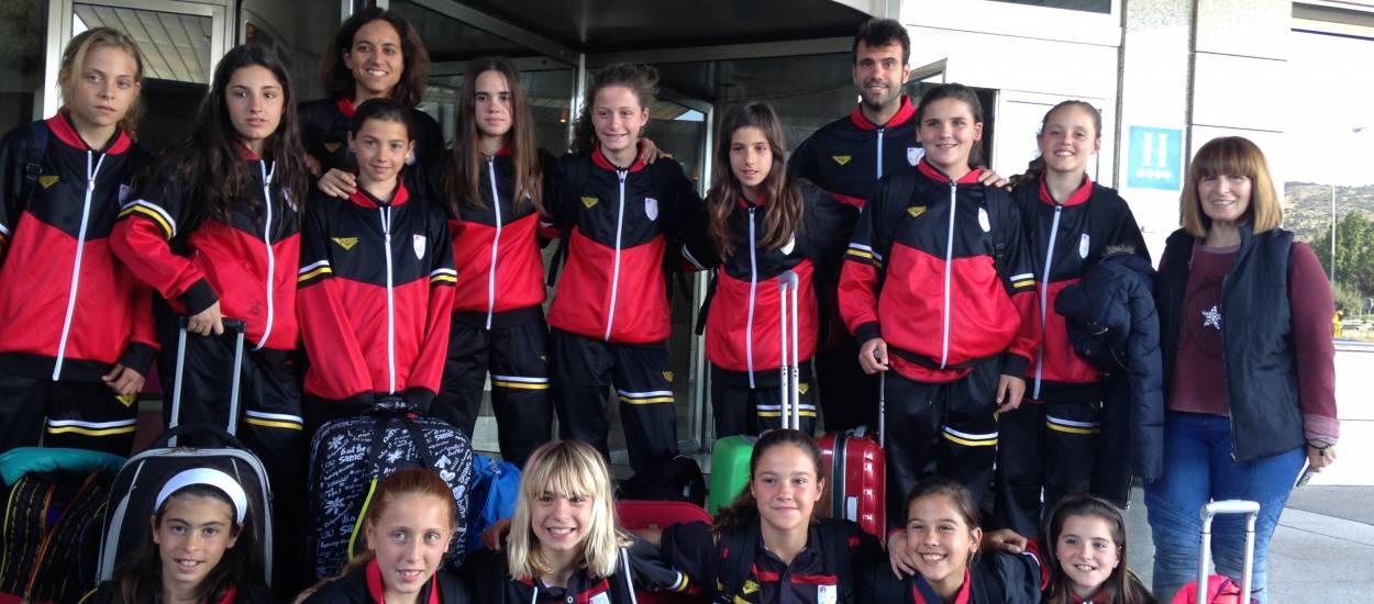 La sub 12 femenina arriba a Madrid per disputar la Fase Única del Campionat