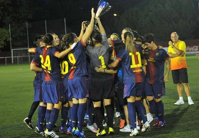 El FC Barcelona campió de la Copa Catalunya femenina 2012