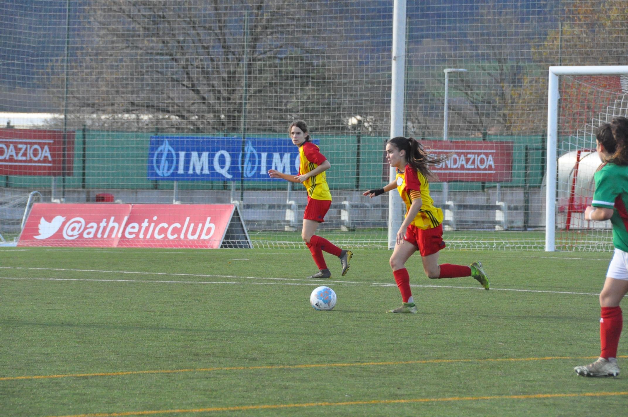 Ariadna Mingueza durant un partit amb la Selecció Catalana sub 17 femenina.