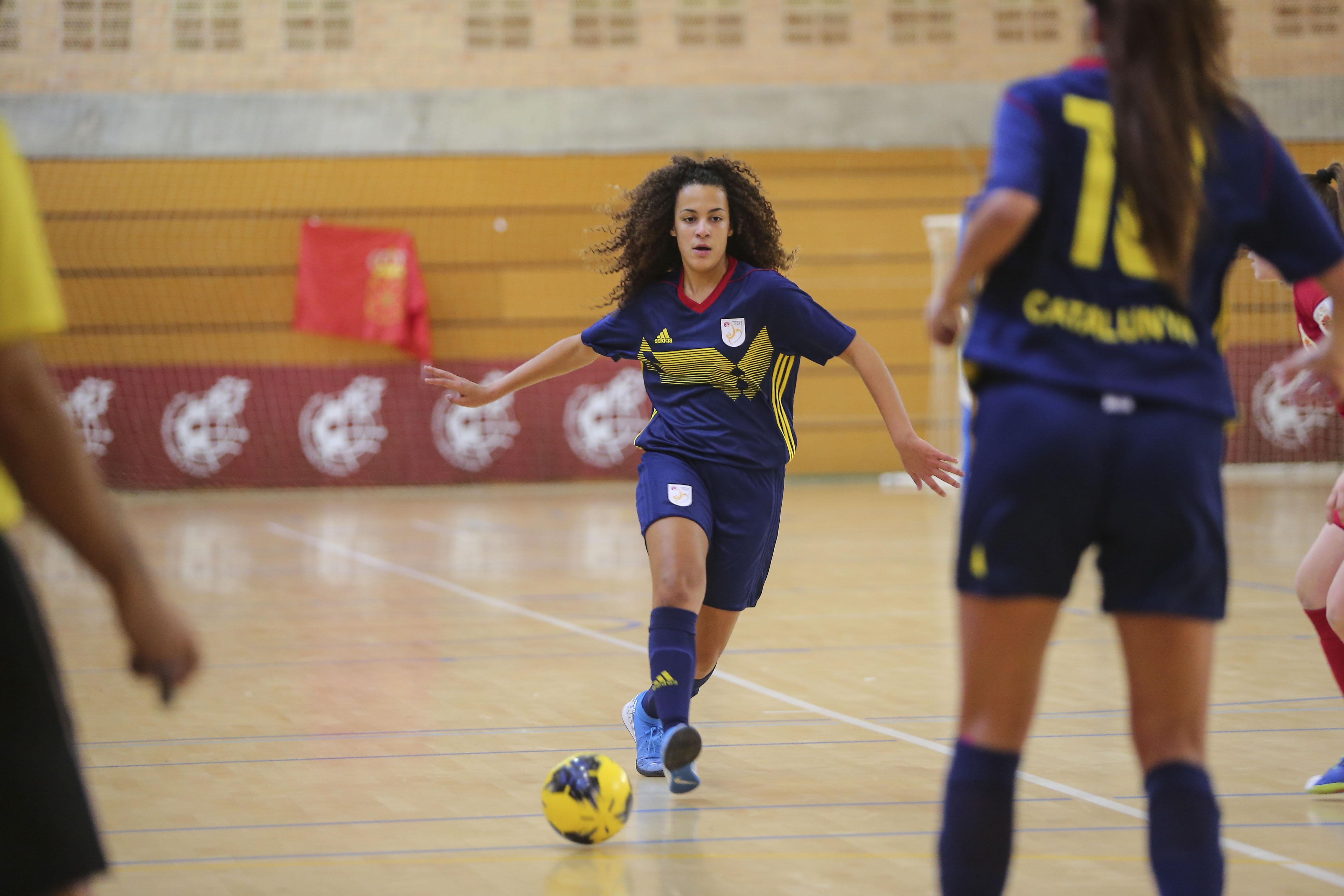 Laura Torres, amb la Selecció Catalana sub 19 femenina de futbol sala