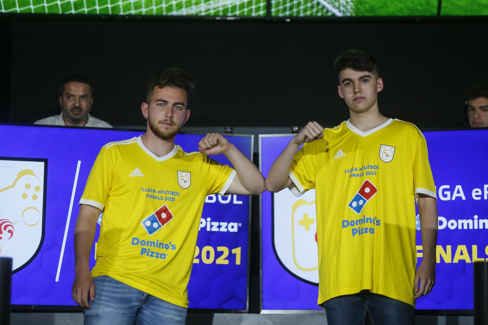 Xavier Sabaté i Jordi Martínez en finalitzar el partit.