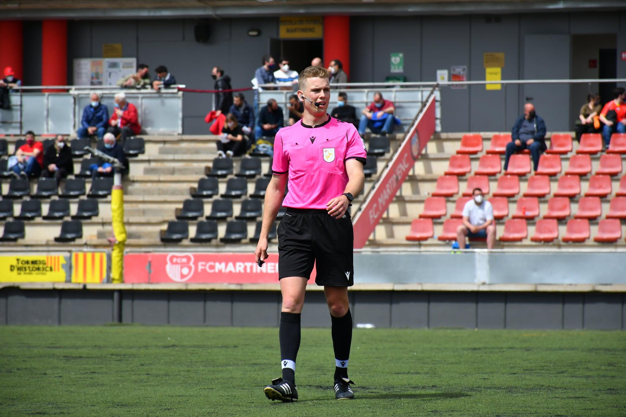 Gerard Rius, en un partit de la passada temporada de Primera Catalana / FOTO: FC Martinenc
