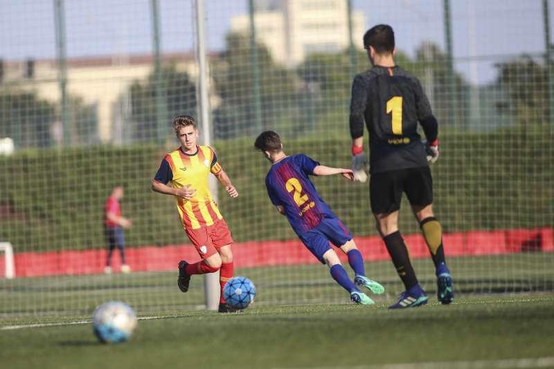 Roberto Navarro, un dels quatre jugadors catalans citats amb la Selecció sub 16 masculina espanyola.