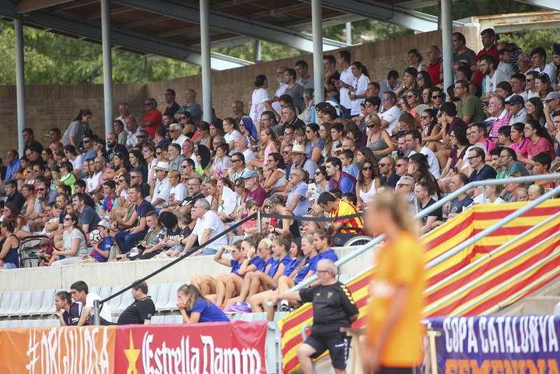 L'Estadi Municipal La Bòbila de Gavà va acollir l'agost del 2017 la Fase Final de la Copa Catalunya Femenina