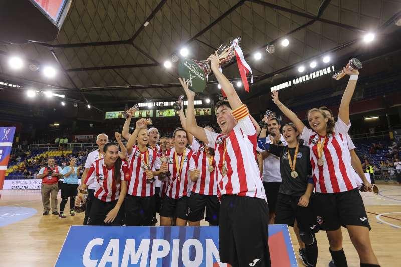 L'AE Penya Esplugues, vigents campiones de la Copa Catalunya Sènior femenina de Futbol Sala 2018