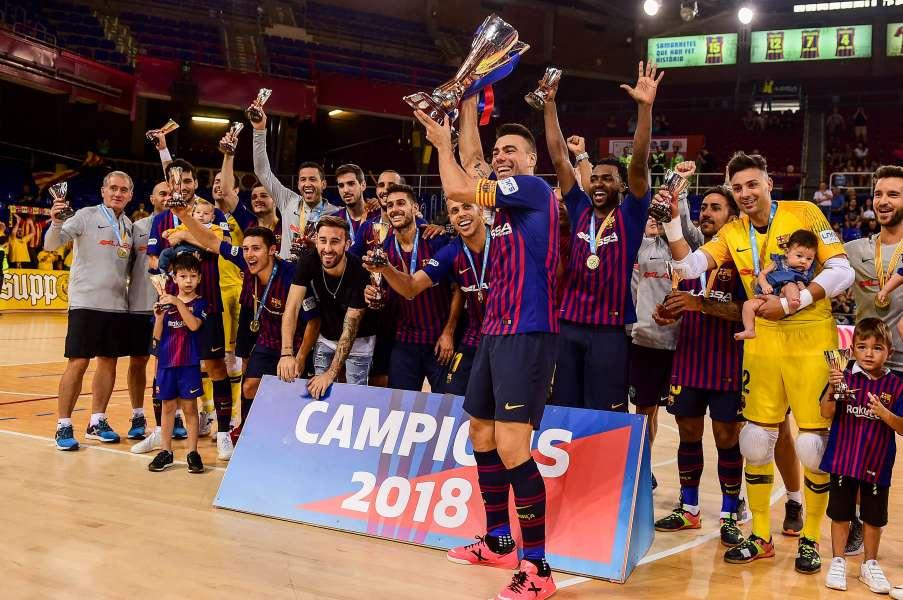 El FC Barcelona, vigents campions de la Copa Catalunya Sènior masculina de Futbol Sala 2018
