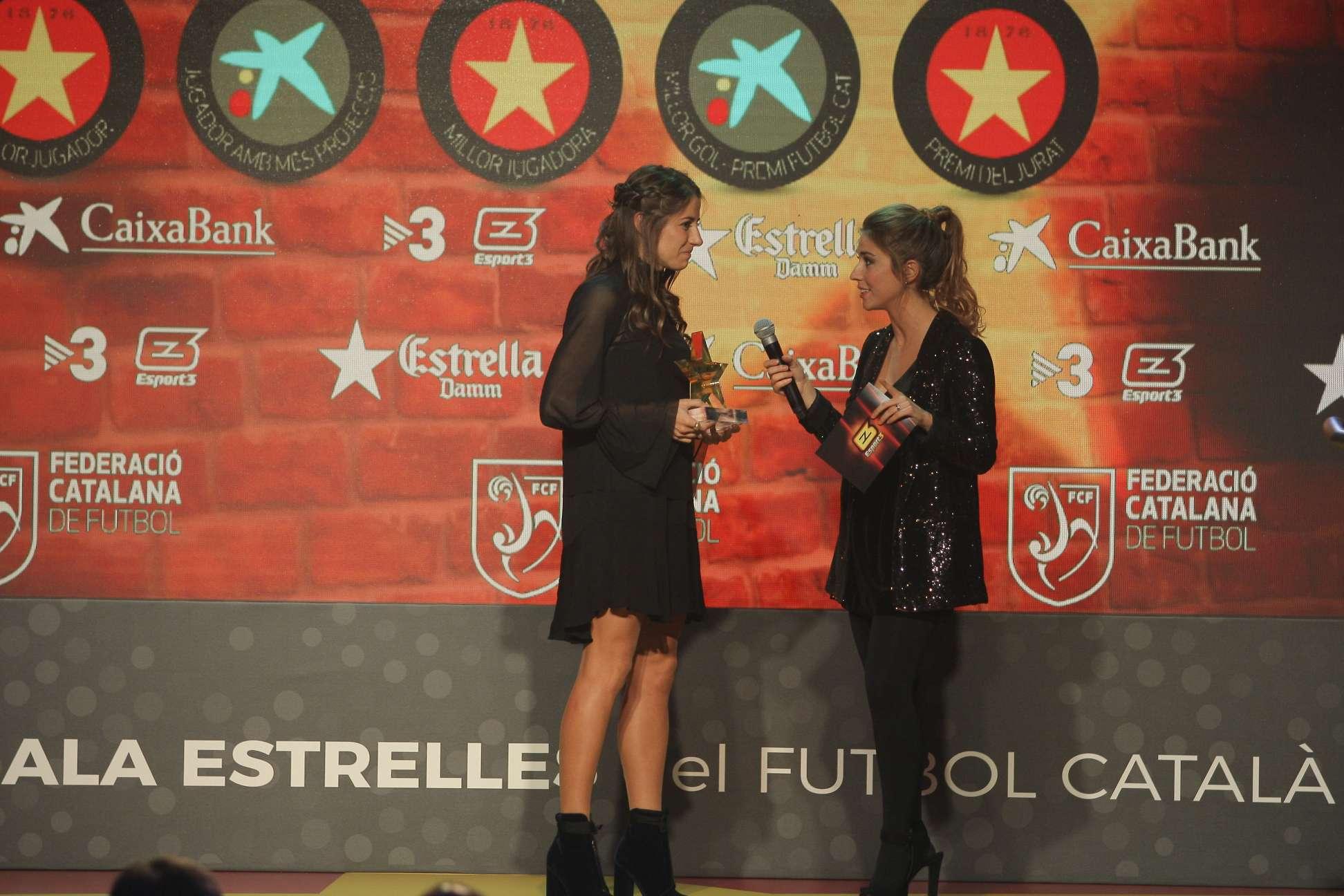 Vicky Losada, premiada com a millor jugadora a la 5a Gala de les Estrelles