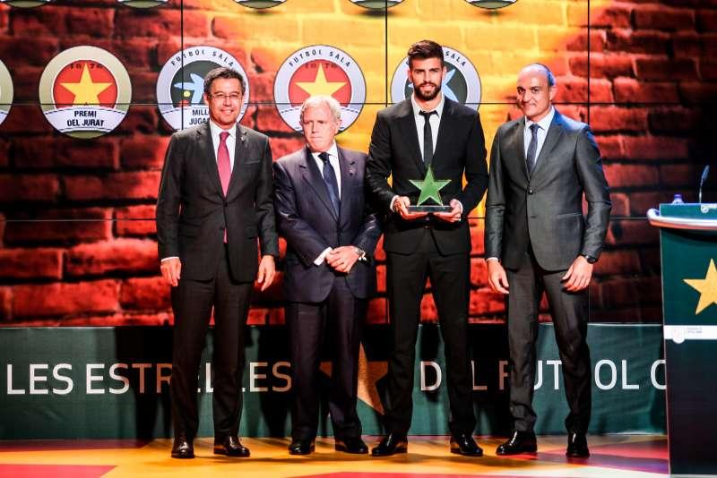 Gerard Piqué, distingit com a millor jugador català de la 4a Gala de les Estrelles