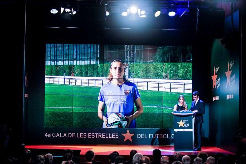 Alèxia Putellas, guardonada com a millor jugadora catalana a la 4a Gala de les Estrelles