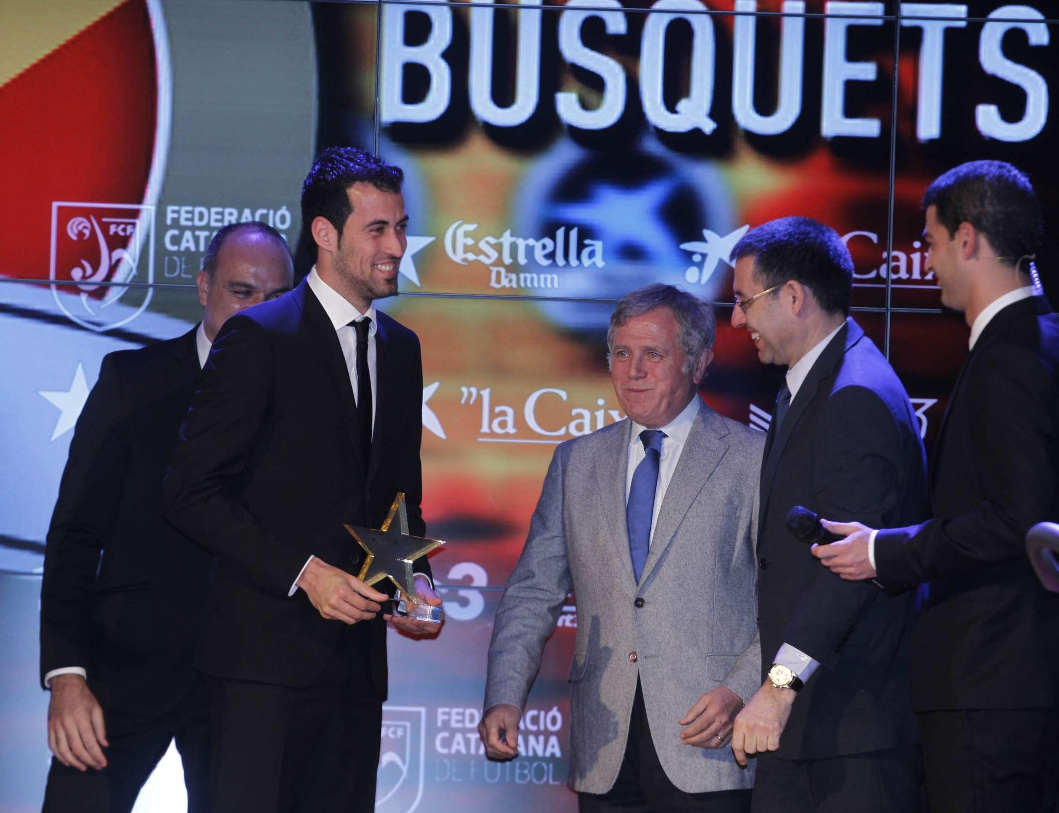 Sergio Busquets, premiat com a millor jugador català de la 2a Gala de les Estrelles