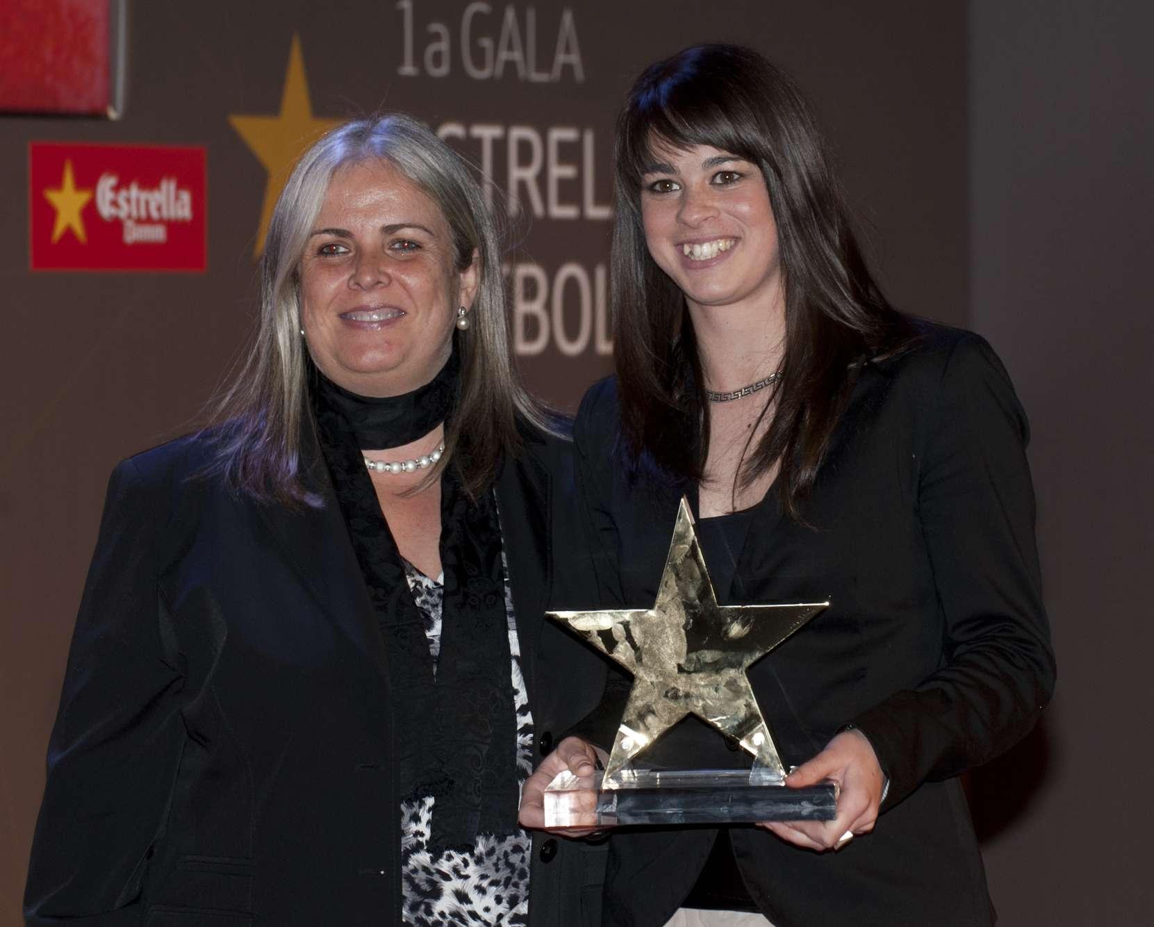 Marta Torrejón, guardonada com a millor jugadora catalana de la 1a Gala de les Estrelles