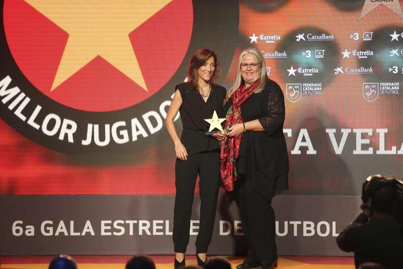 Berta Velasco, premiada com a millor jugadora catalana a la 6a Gala de les Estrelles