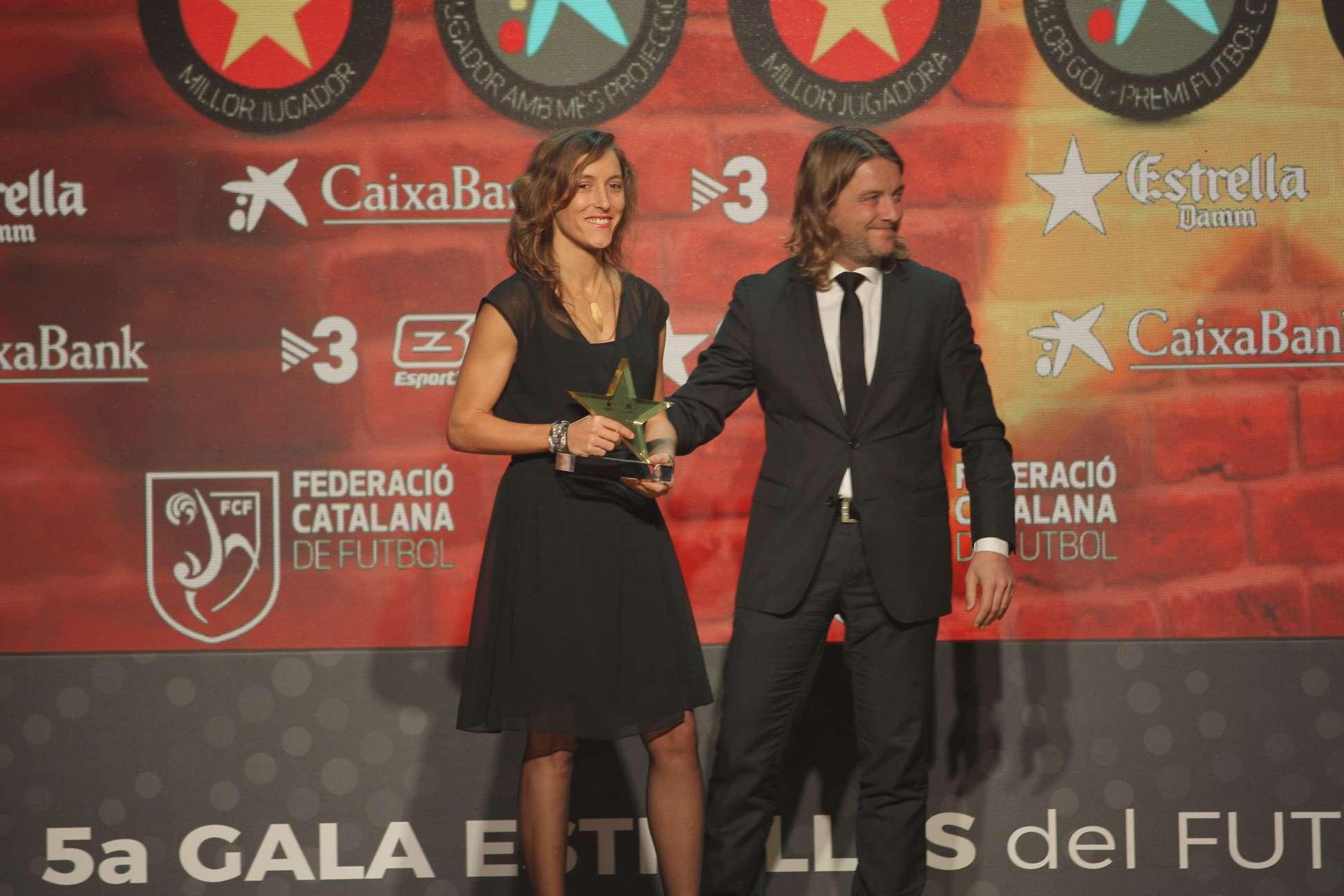 Berta Velasco, premiada com a millor jugadora a la 5a Gala de les Estrelles