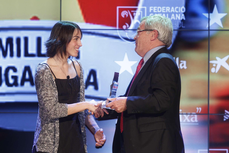 Anna Costa, premiada com a millor jugadora catalana de la 2a Gala de les Estrelles