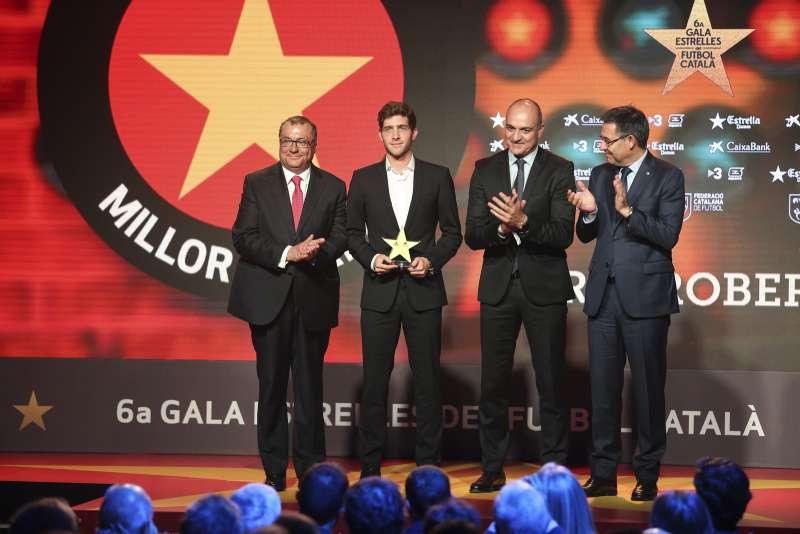 Sergi Roberto, guardonat com a millor jugador català a la 6a Gala de les Estrelles