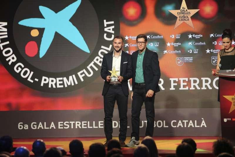 Xavi Ferrón, guanyador del 'Millor Gol' del futbol català a la 6a Gala de les Estrelles