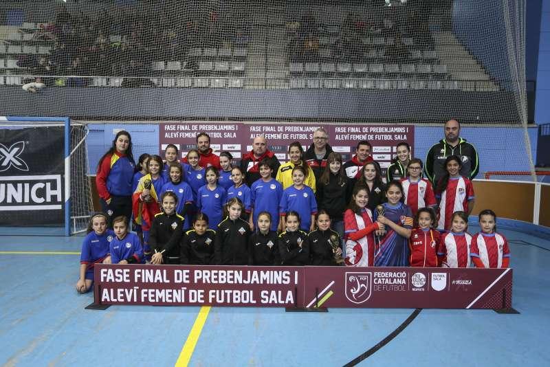 GRUP B – ALEVÍ FEM.: CFS Sant Joan Despí, FS Castelldfels i Selecció d'Andorra