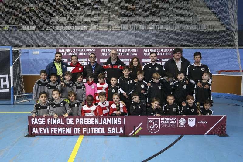 GRUP B - PREBENJAMÍ: Blanesport 83 FS, Unió FS Mollet i CCR Gavà /Colegio Santo Angel