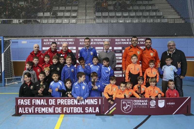 GRUP C - PREBENJAMÍ: Lloret Esportiu 2012 CFS, CN Caldes FS i Pallejà FS