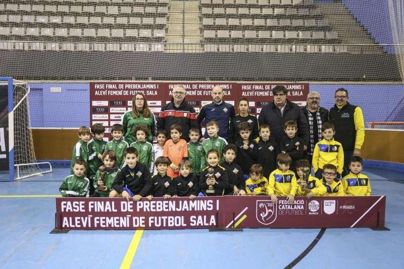 GRUP O - PREBENJAMÍ: EFS Palafolls, AEFS Montornès Giribets i FS Castelldefels