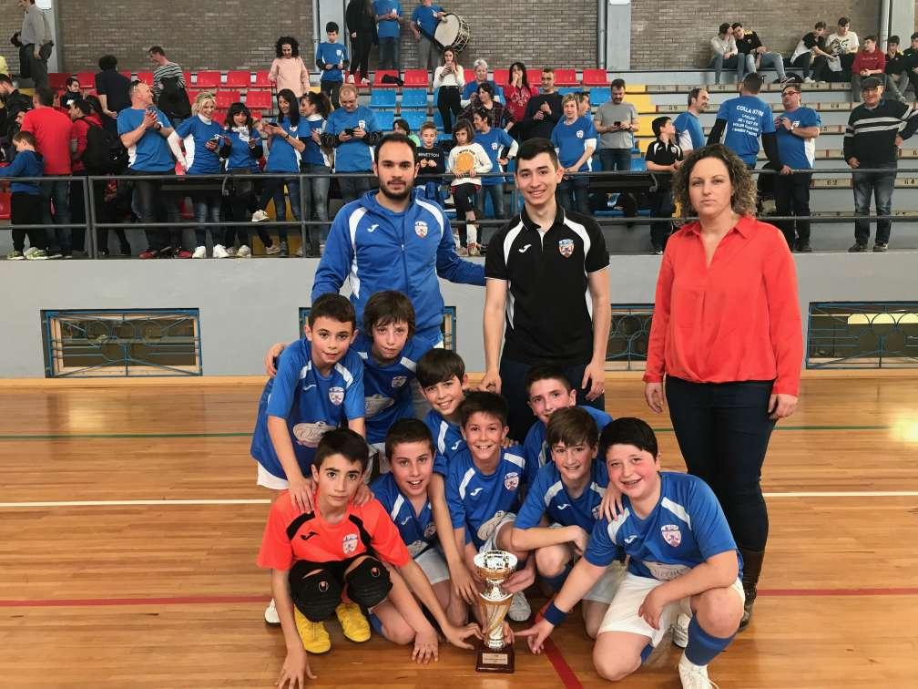 Campions de la Copa Lleida Aleví - CFS Agramunt