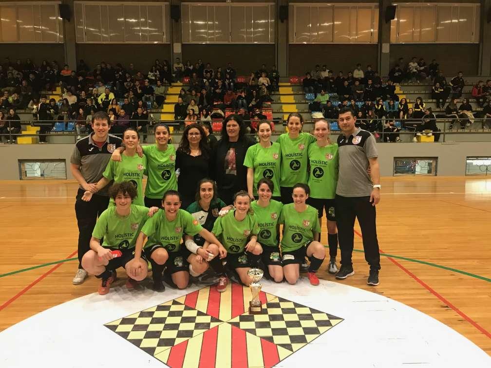 Campiones de la Copa Lleida Sènior femení - Cervera Segarra Femení