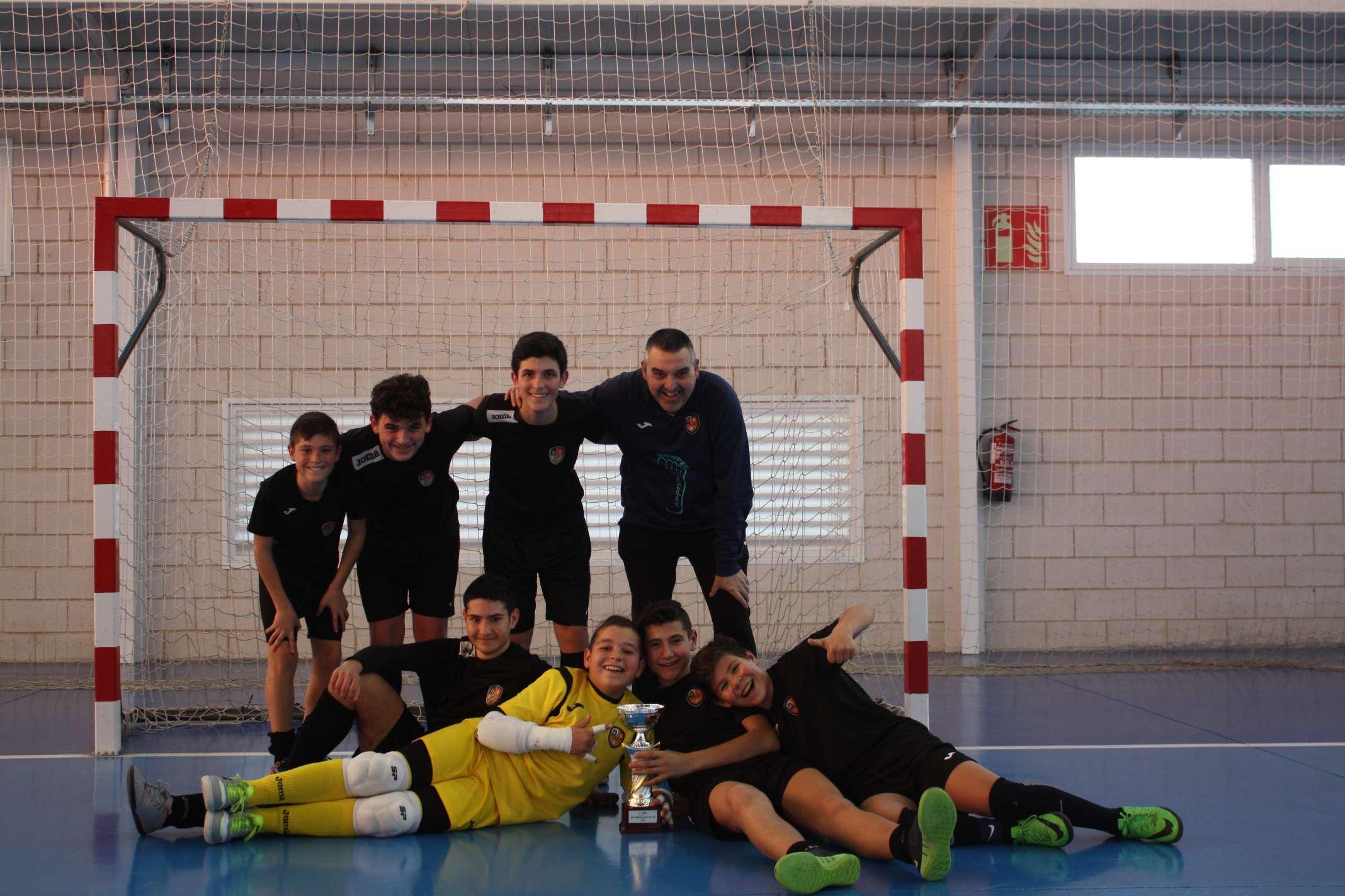 Campions de la Copa Tarragona Aleví - Amposta FS