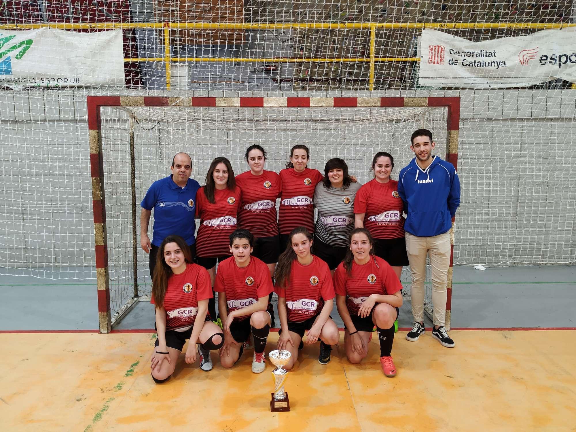 Campiones de la Copa Tarragona Juvenil femení - CFS Montblanc Martí L'Humà