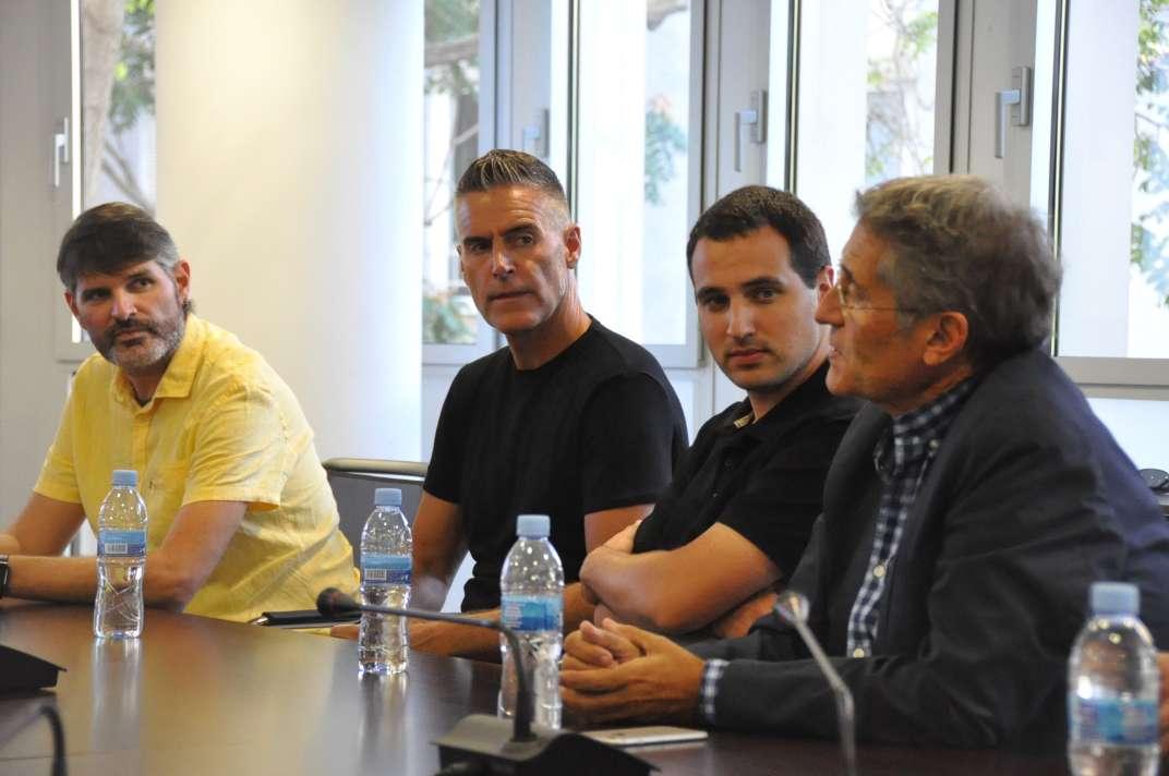 L'entrenador Lluís Carreras i el periodista Eduard Boet formen part de la comissió del centenari del club maresmenc