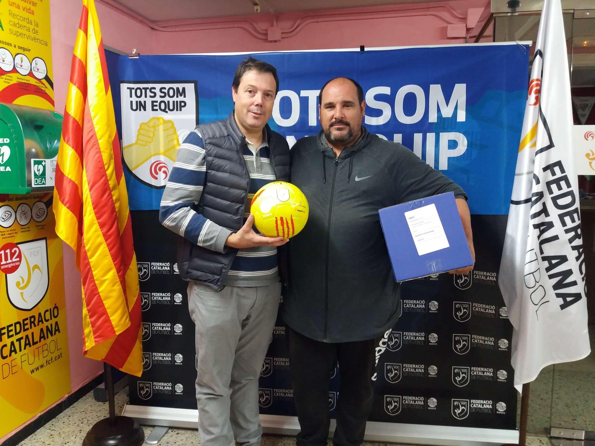 El vicepresident del CF Athletic Riudeperes, Jordi Pérez