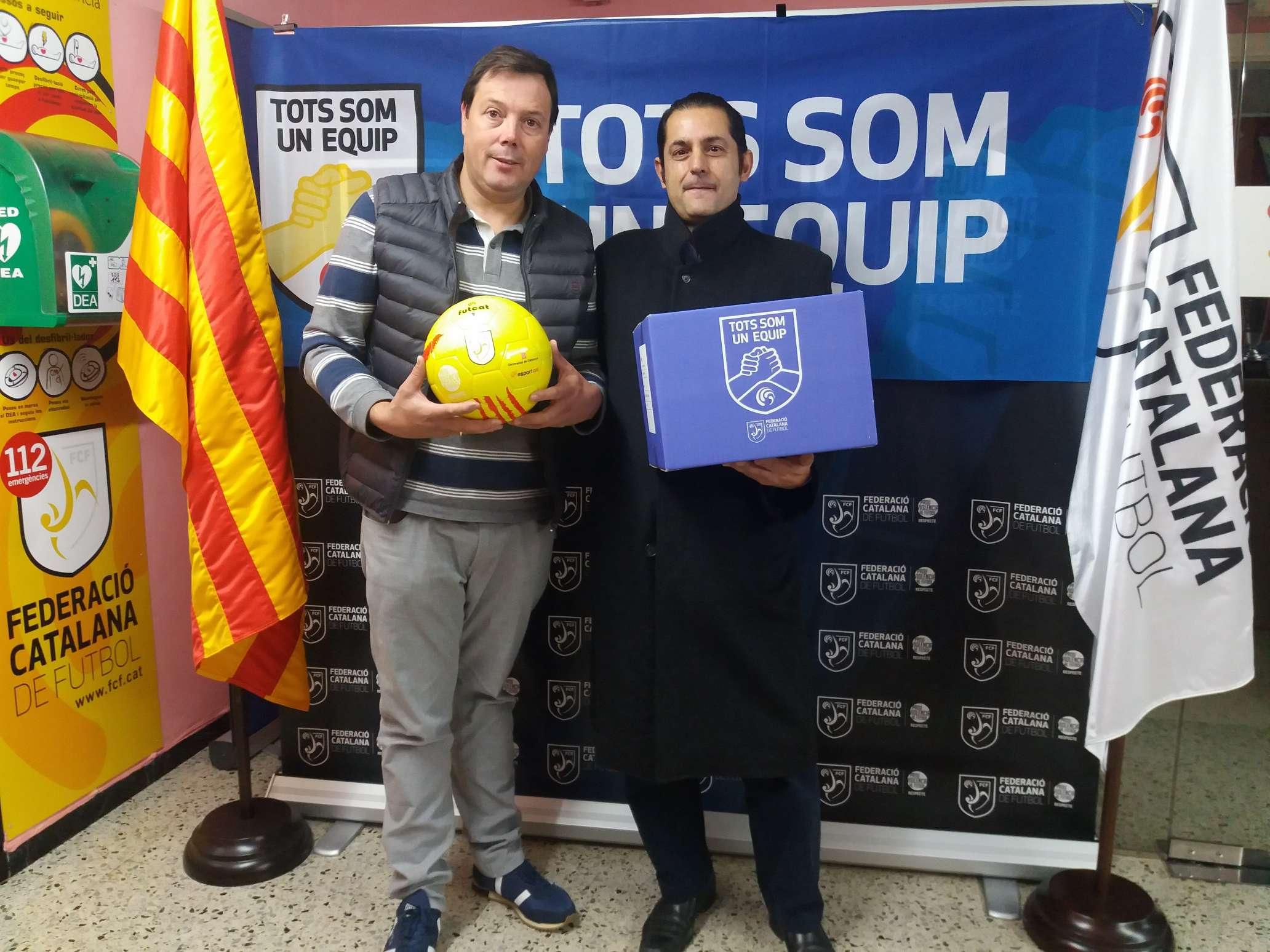 El president de la UD Sant Quirze de Besora, Josep Miquel Bonastre