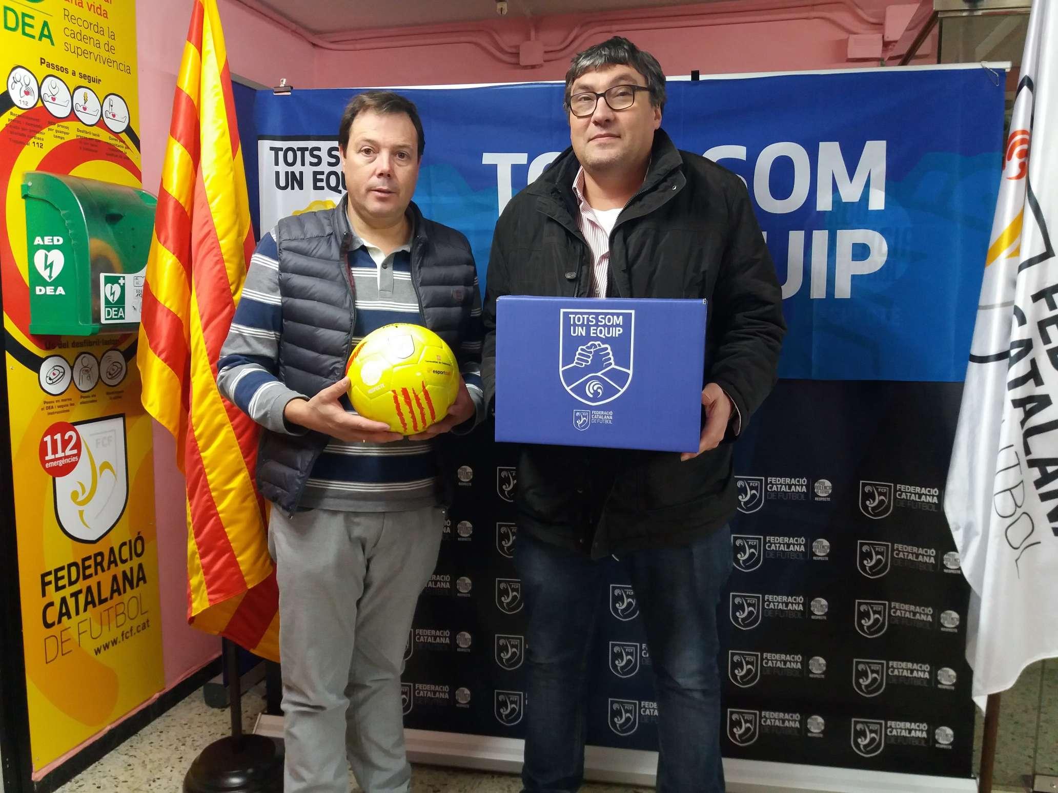El vicepresident del Vic Riuprimer Refo FC, Joan López