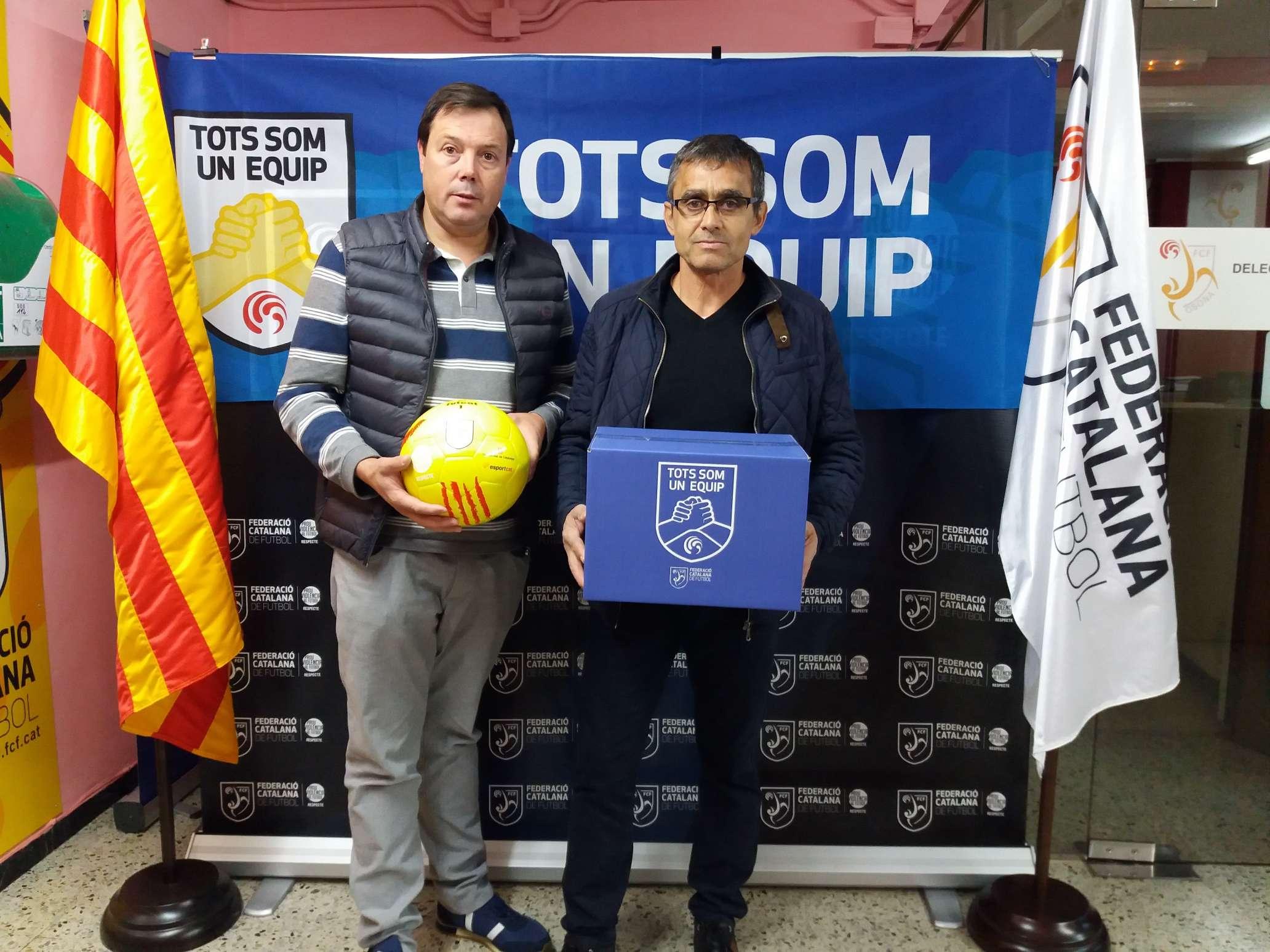 El president del CF Voltregà, Antonio Garrido