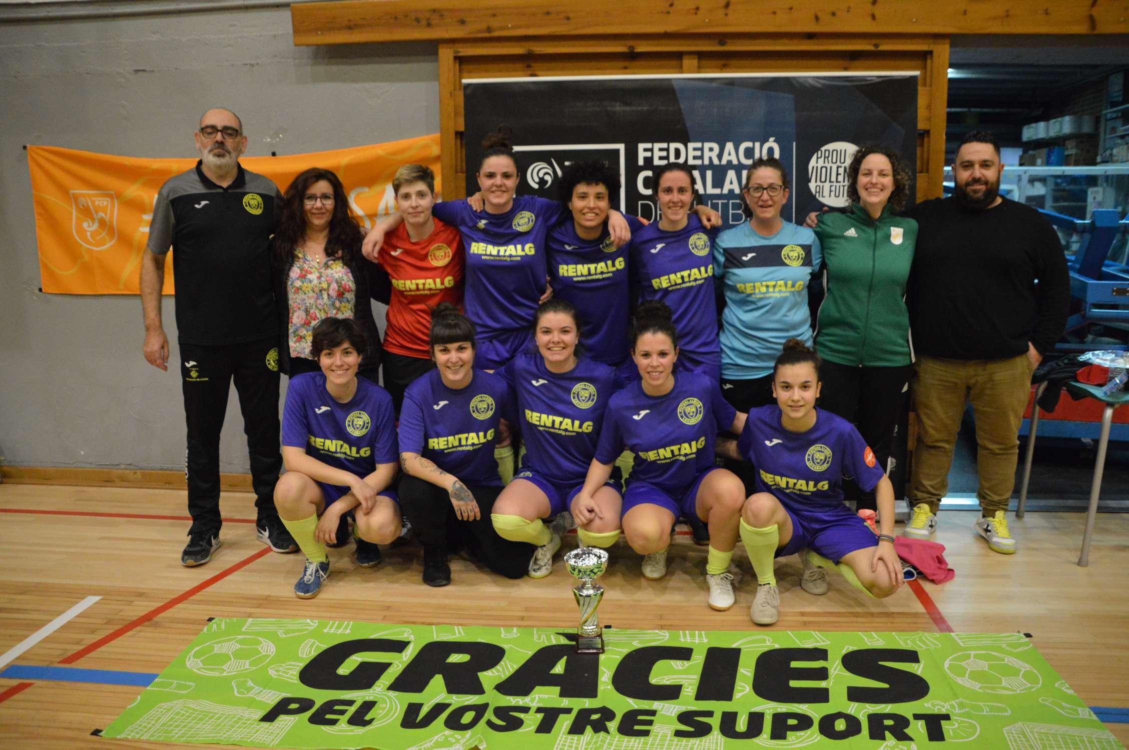 Campiones Sènior femení Copa Lleida - Rentalg Futsal Lleida (Clàudia Ramos)