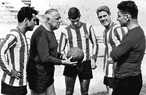 Domingo Balmanya, en la seva etapa al Real Betis, amb Luis Aragonés com a jugador / FOTO: Retrospectiva del deporte