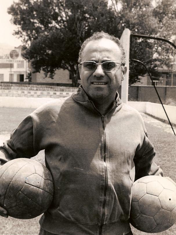Josep Otero, l'any 1972 a l'estadi que porta el seu nom en l'actualitat / FOTO: Arxiu família Otero Roselló