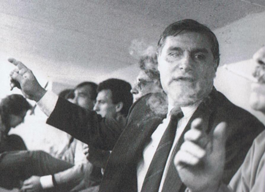 Pepe Mauri, a la banqueta del RCD Espanyol el 1989 / FOTO: Hallofameperico.com